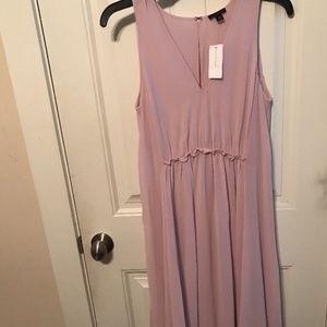 Ann-Taylor Sleeveless Dress Pink-Size 0 XS NWT
